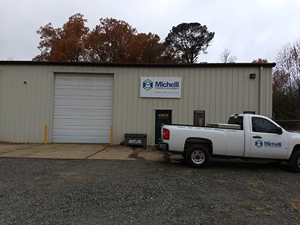Michelli Weighing & Measurement Alexander, AR office exterior with Michelli truck out front