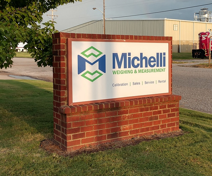 Michelli Weighing & Measurement sign in Olive Branch, Mississippi