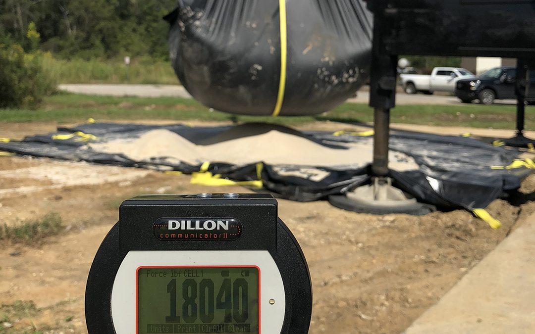 Force Measurement – Proof Testing of J&M Snow Tarpaulin