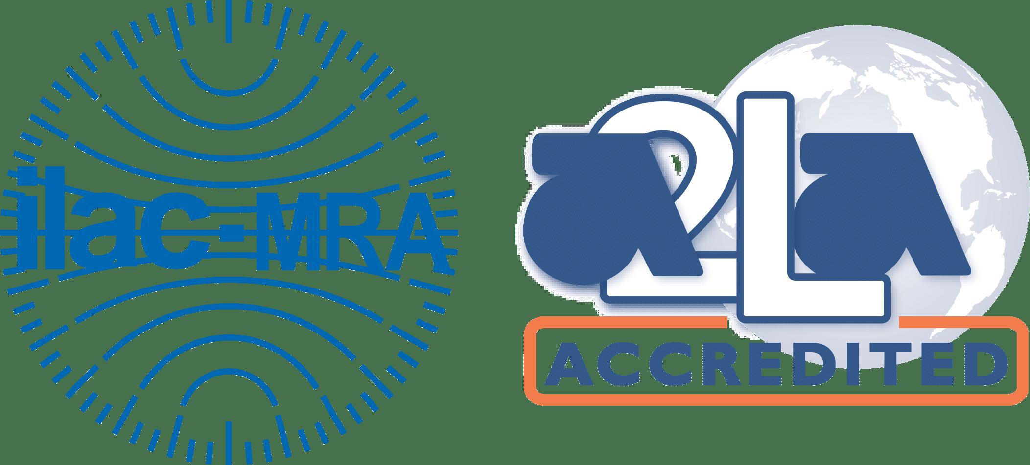 ILAC MRA-A2LA Accredited