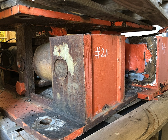 Salt water corroded load cell