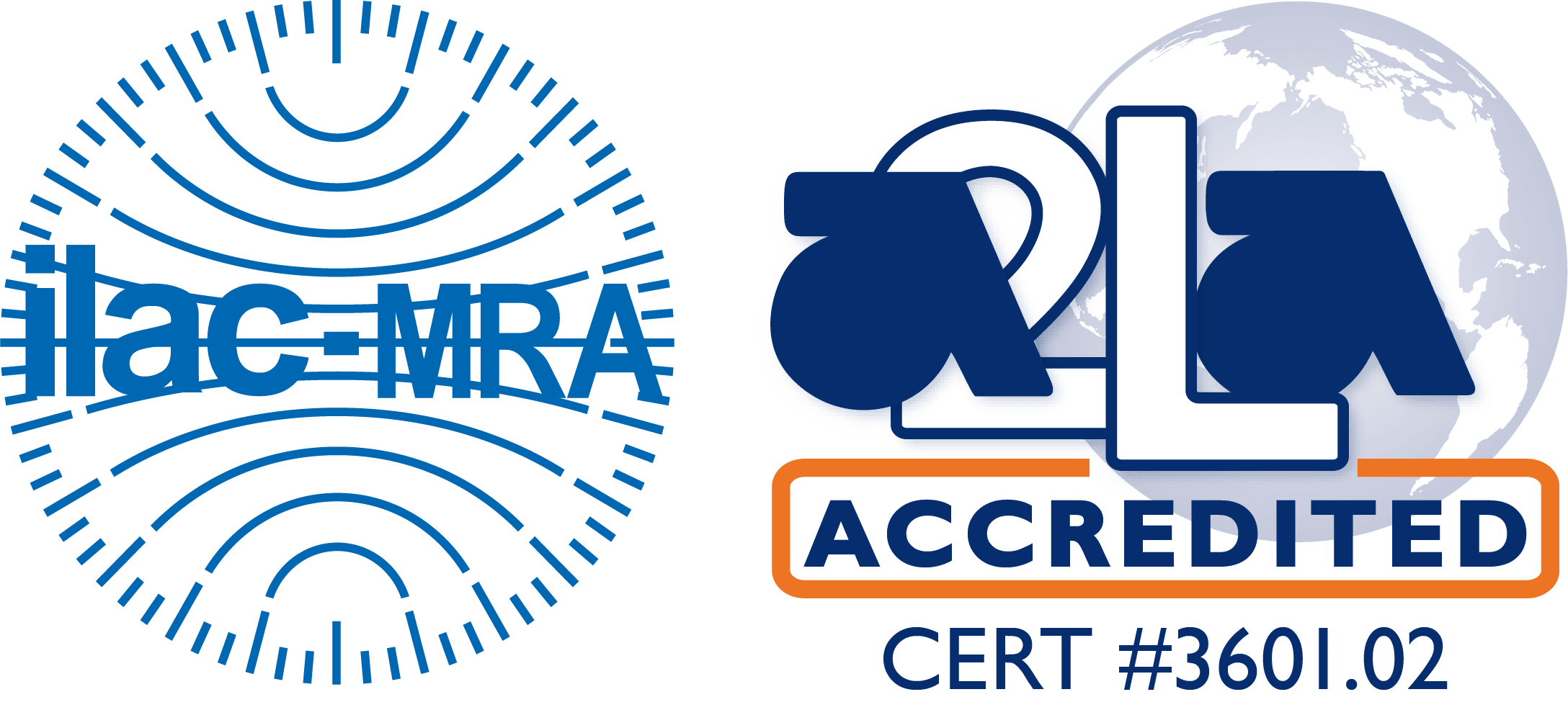 ILAC MRA-A2LA Accredited Symbol 3601.02 Bossier City
