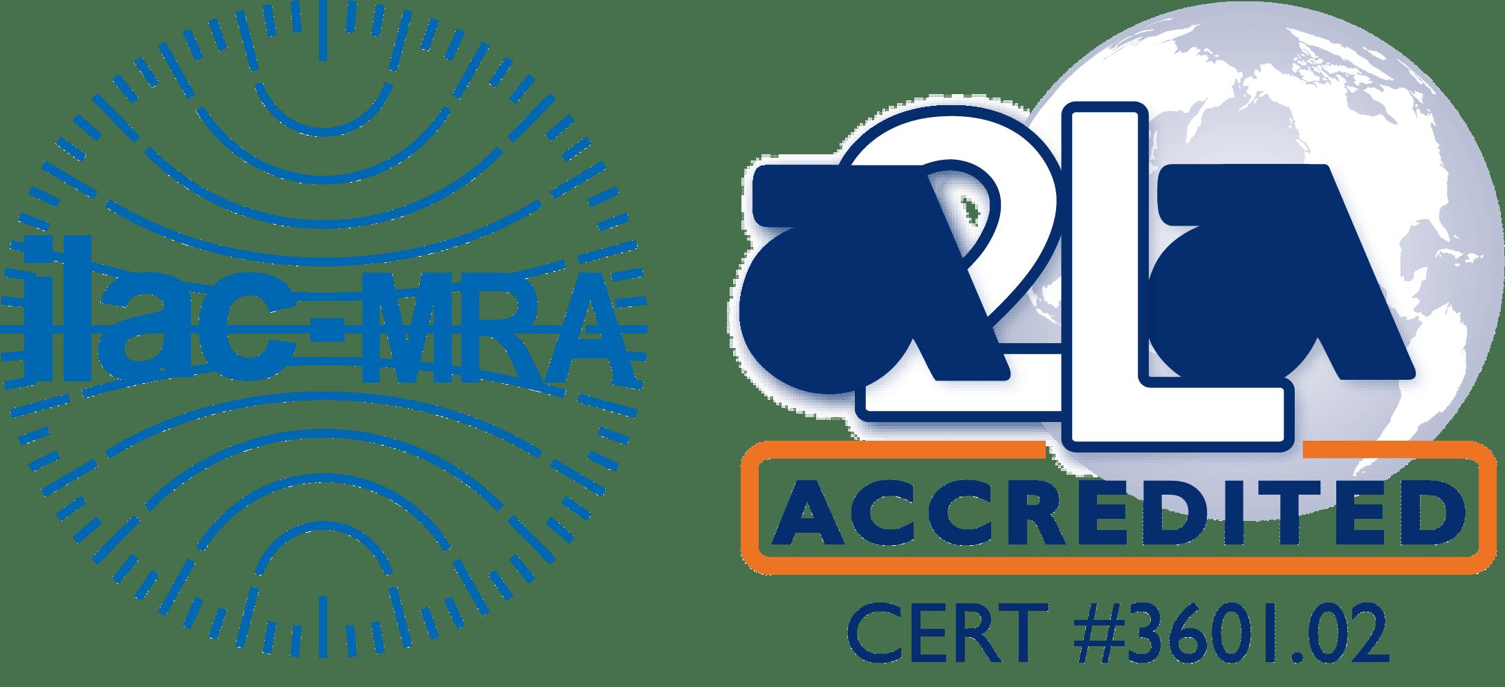 ILAC MRA-A2LA Accredited Symbol 3601.02 Bossier City