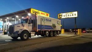 Michelli Test Truck on certified CAT Scale (1)