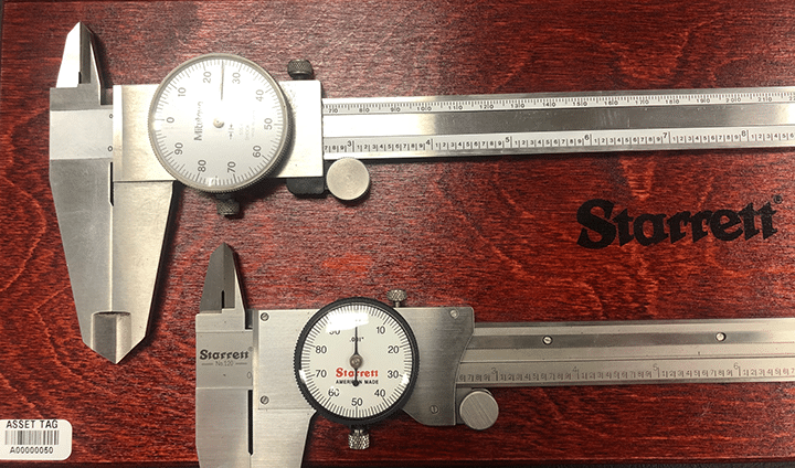 Dial calipers available in metric and imperial units