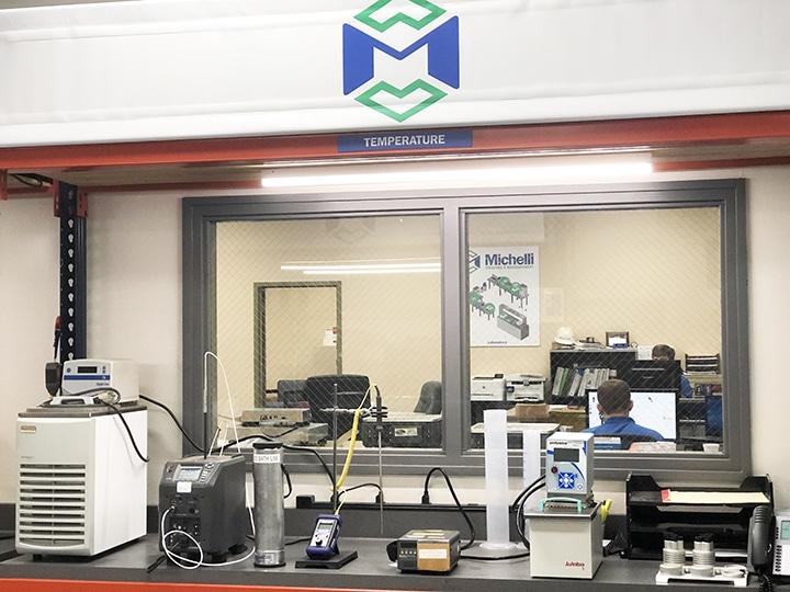 Temperature calibration bench in Michelli cal lab