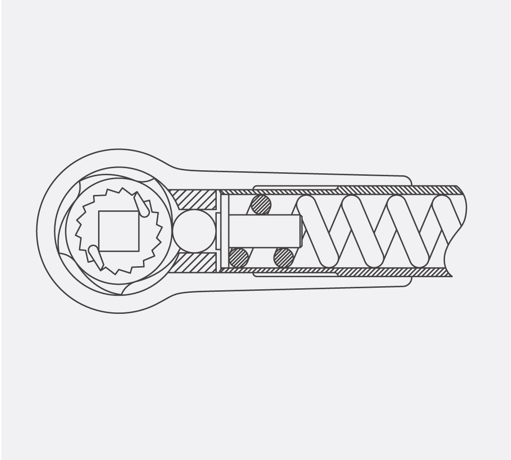 Illustration of Cam-Over Torque Wrench Mechanism