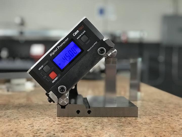 Digital Protractor Calibration Web