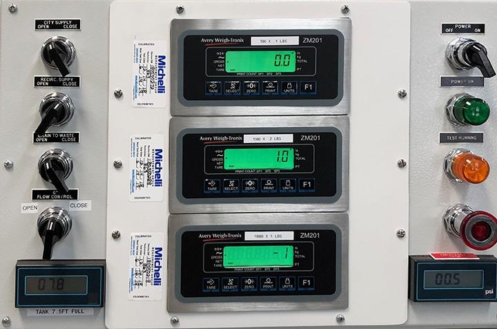 FlowTest Indicator Displays