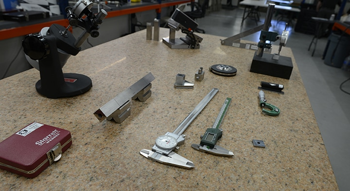 Calipers & other physical dimensional tools in Michelli Calibration Lab