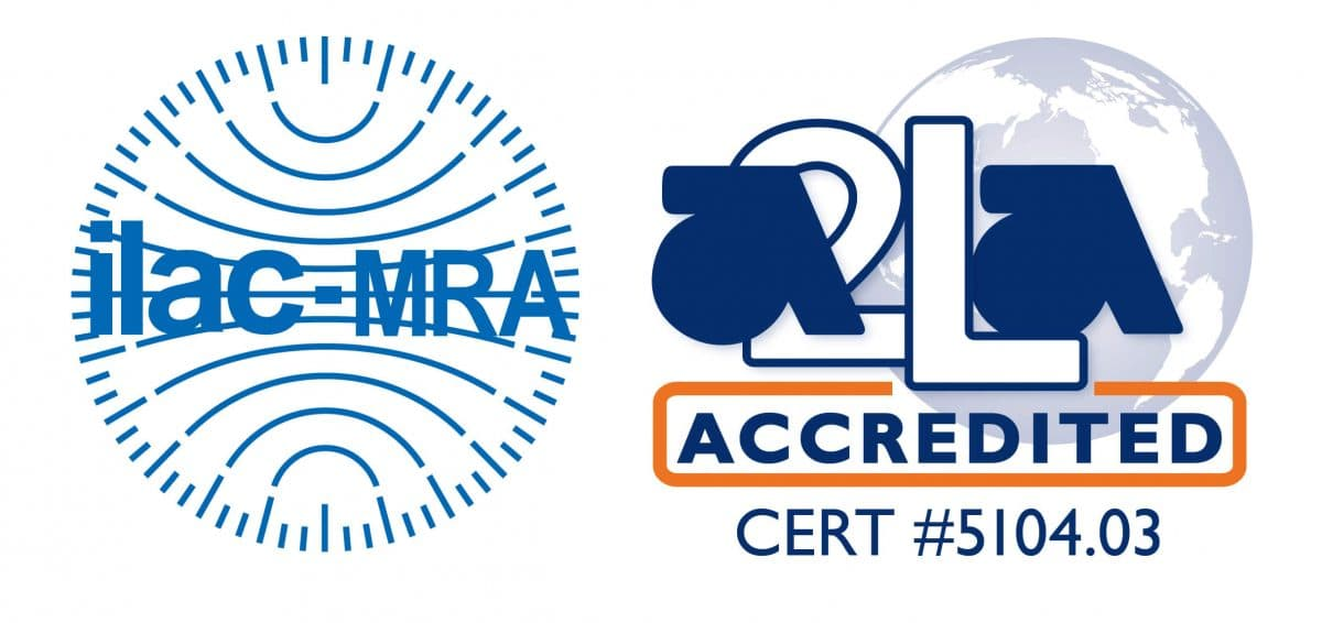 ILAC MRA-A2LA Accredited Symbol 5104.03-01 Stockton, California ISO 17025 Accredited Calibration Lab