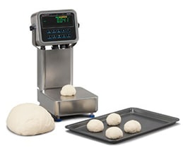 ZQ375 Checkweigher used in food processing to weigh dough